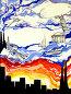 """""""Мир противоречий"""", детский рисунок - маркер, гуашь, иллюстрация № 3564074 (c) Ирина Иванова / Фотобанк Лори"""
