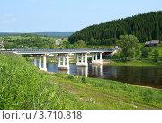 Мост через реку Усьва в поселке Усьва