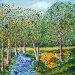 Лесной пейзаж, художественное масло, мастихиновая техника, иллюстрация № 5432570 (c) Ирина Иванова / Фотобанк Лори
