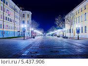 Ночной Оренбург. Улица Советская, фото № 5437906, снято 26 ноября 2013 г. (c) Вадим Орлов / Фотобанк Лори