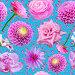 Бесшовный фон с цветами и бабочками, иллюстрация № 5823298 (c) Наталья Спиридонова / Фотобанк Лори