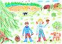 Грибное лето, иллюстрация № 6433042 (c) Щеголева Ольга / Фотобанк Лори