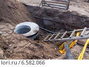 Прокладка коммуникаций подземным способом, фото № 6582066, снято 25 октября 2014 г. (c) FotograFF / Фотобанк Лори