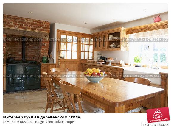 Интерьер кухни в деревенском стиле, фото 3075646, снято 22 мая 2008 г...