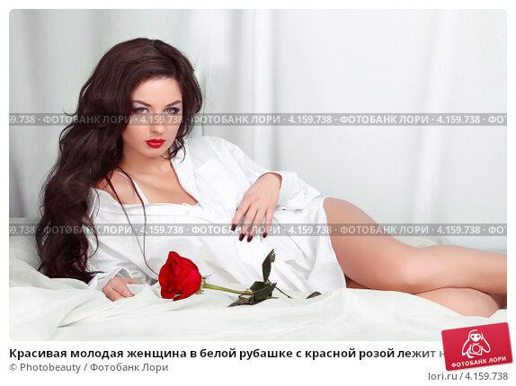 foto-bryunetka-v-rubashke