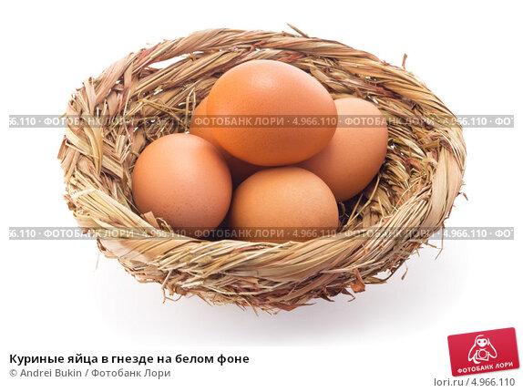 Домашние куриные яйца в гнезде, фото 6271006