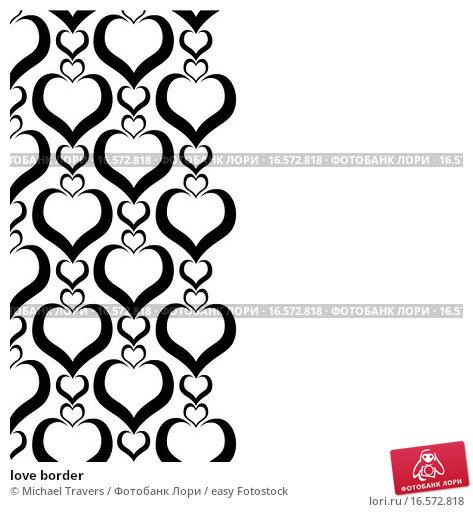 Black heart border