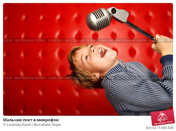Мальчик поет в микрофон фото 1643530