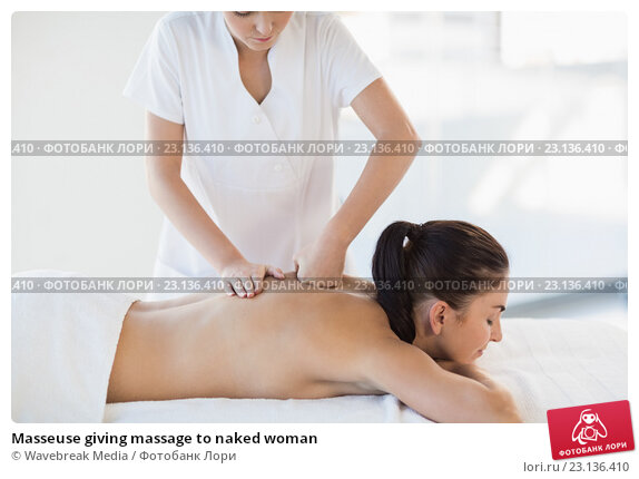 Table on naked woman massage
