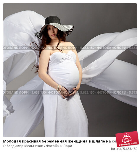 Фото беременной в шляпе 512