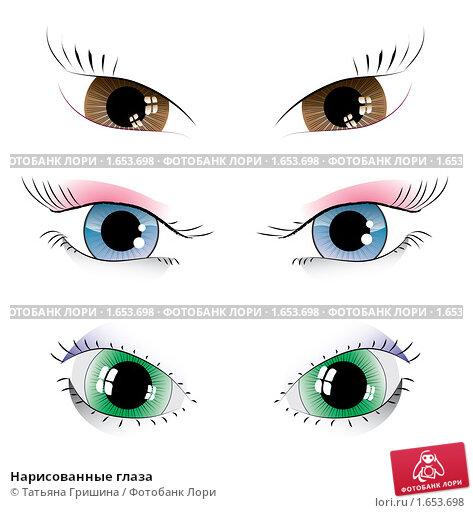 Нарисованные глаза иллюстрация