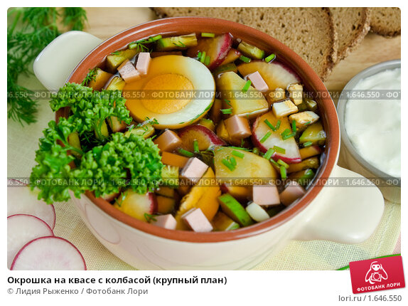 Окрошка рецепт с колбасой на квасе рецепт пошаговый