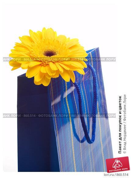 Пакет для покупок и цветок, фото 860514.