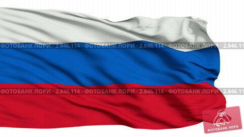 Развевающийся флаг россии