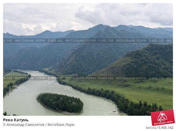 Река Катунь, фото № 5905142, снято 19 августа 2013 г. (c) Александр Самолетов / Фотобанк Лори