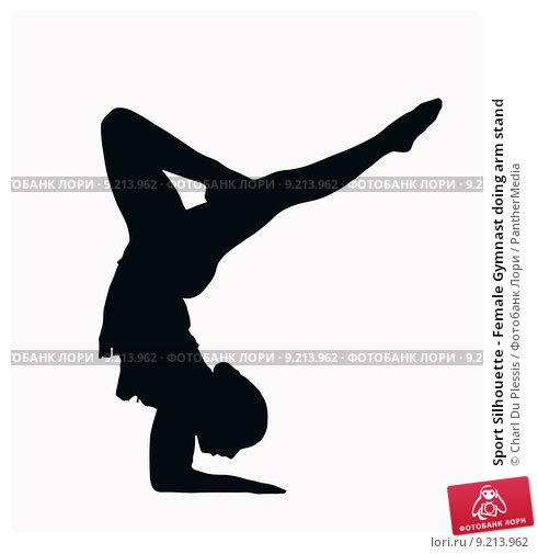Gymnastics clipart silhouette handstand