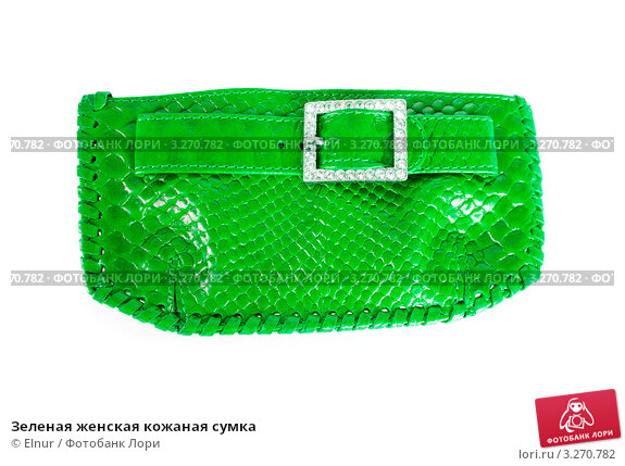 Зеленая женская кожаная сумка, фото 3270782, снято 4 января 2010 г. (c...