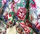 Русская шаль с цветами на белом фоне, фото № 2346, снято 21 февраля 2017 г. (c) Маргарита Лир / Фотобанк Лори