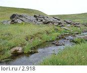 Купить «Горный ручей», фото № 2918, снято 14 августа 2005 г. (c) Николай Гернет / Фотобанк Лори