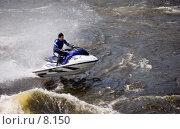 Купить «Водный мотоцикл», фото № 8150, снято 20 августа 2006 г. (c) Vladimir Fedoroff / Фотобанк Лори