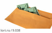 Купить «Конверт с деньгами на белом фоне», фото № 9038, снято 7 сентября 2006 г. (c) Валерия Потапова / Фотобанк Лори