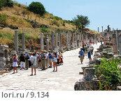 Купить «Улица Куретов (мраморная дорога). Эфес, Турция», фото № 9134, снято 9 июля 2006 г. (c) Маргарита Лир / Фотобанк Лори