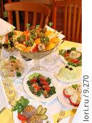Купить «Сервированный стол», эксклюзивное фото № 9270, снято 11 июня 2005 г. (c) Ирина Терентьева / Фотобанк Лори