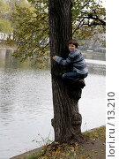 Купить «Мальчик на дереве», эксклюзивное фото № 13210, снято 22 октября 2006 г. (c) Ирина Терентьева / Фотобанк Лори