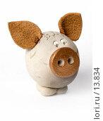 Купить «Свинка ручной работы», фото № 13834, снято 30 ноября 2006 г. (c) Лисовская Наталья / Фотобанк Лори