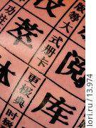 Купить «Керамическая ваза с китайскими иероглифами», фото № 13974, снято 29 августа 2006 г. (c) Ольга Красавина / Фотобанк Лори