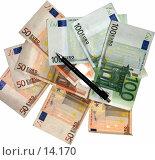 Купить «Купюры в 100 и 50 евро на белом фоне», фото № 14170, снято 10 мая 2006 г. (c) Александр Легкий / Фотобанк Лори