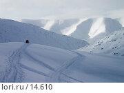 Купить «Снегоход в горах», фото № 14610, снято 25 мая 2018 г. (c) Vladimir Fedoroff / Фотобанк Лори