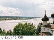 Купить «Каргополь - река», фото № 15758, снято 19 августа 2018 г. (c) Андреева Евгения / Фотобанк Лори