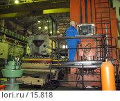 Механообработка на расточном станке. Стоковое фото, фотограф Ivan I. Karpovich / Фотобанк Лори