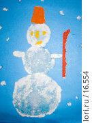 Купить «Детская аппликация: снеговик», иллюстрация № 16554 (c) SummeRain / Фотобанк Лори