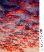 Купить «Красные облака заката», фото № 16790, снято 18 января 2018 г. (c) SummeRain / Фотобанк Лори