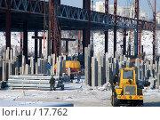 Купить «Вбивание свай под фундамент», фото № 17762, снято 8 февраля 2007 г. (c) Юрий Синицын / Фотобанк Лори