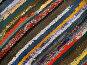 Разноцветный полосатый коврик ручной работы, фото № 19338, снято 25 июня 2017 г. (c) only / Фотобанк Лори