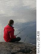 Купить «Девушка ловит рыбу», фото № 20438, снято 2 сентября 2006 г. (c) Vladimir Fedoroff / Фотобанк Лори