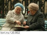 Купить «Шахматная партия в исполнении двух дам преклонного возраста. Белые начинают...», фото № 20802, снято 22 октября 2006 г. (c) Захаров Владимир / Фотобанк Лори