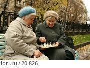Купить «Шахматная партия в исполнении двух дам преклонного возраста», фото № 20826, снято 22 октября 2006 г. (c) Захаров Владимир / Фотобанк Лори