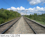 Купить «Железная дорога», фото № 22374, снято 23 августа 2004 г. (c) Вадим Пономаренко / Фотобанк Лори