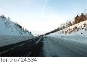 Купить «Зимняя трасса», фото № 24534, снято 6 января 2007 г. (c) Лукьянов Иван / Фотобанк Лори