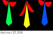 Купить «Аппликация из галстуков», иллюстрация № 27318 (c) Анатолий Теребенин / Фотобанк Лори