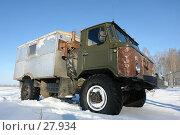 Купить «ГАЗ-66, стоящий в снегу», фото № 27934, снято 8 июля 2020 г. (c) Александр Тараканов / Фотобанк Лори