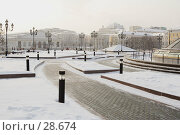 Купить «Манежная площадь зимой», фото № 28674, снято 7 февраля 2006 г. (c) Андрей Ерофеев / Фотобанк Лори