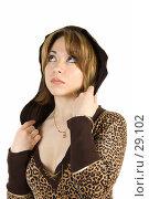 Купить «Девушка, смотрящая вверх», фото № 29102, снято 24 марта 2007 г. (c) Вадим Пономаренко / Фотобанк Лори