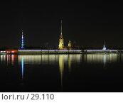 Купить «Шпили Петропавловского собора», фото № 29110, снято 22 апреля 2005 г. (c) Александр Авдеев / Фотобанк Лори
