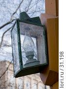 Купить «Керосиновый уличный фонарь», фото № 31198, снято 3 апреля 2007 г. (c) Юрий Синицын / Фотобанк Лори