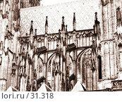 Купить «Фрагмент собора св. Витта (Прага, Чехия). Эффект старой фотографии», фото № 31318, снято 25 октября 2005 г. (c) Маргарита Лир / Фотобанк Лори